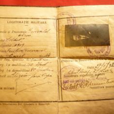 Legitimatie Militara -Livret Militar 1920 Bucuresti, Documente