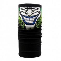 BANDANA CU CAP DE clovn cagula PAINTBALL AIRSOFT MOTO SKI masca - green joker