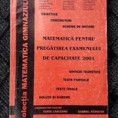 MATEMATICA PENTRU PREGATIREA EXAMENULUI DE CAPACITATE LASLEANU, RADUCAN - Carte Teste Nationale