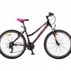 Bicicleta MTB UMIT Mirage V Lady, culoare negru/roz, roata 26