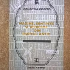 Maxime, sentinte si aforisme din Egiptul antic - Carte Filosofie