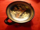 Vas antic grecesc-pictat cu scena mitologica-Cantareti- Copie -Grecia ,h= 5,3 cm