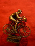 Statueta bronz - Ciclist , h= 11 cm