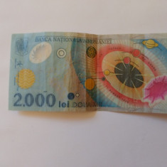Vand bacnota 2000 lei eclipsa - Bancnota romaneasca