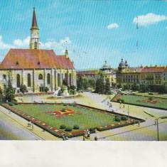 Bnk cp Cluj Napoca - Catedrala Sf Mihail - circulata - Carte Postala Transilvania dupa 1918, Printata