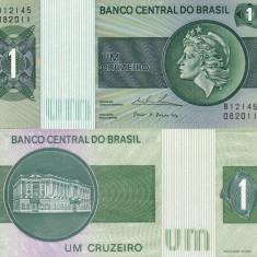BRAZILIA 1 cruzeiro ND (1975) UNC!!! - bancnota america