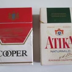 2 Pachete colectie:Cooper si Atika cu tigari din anii 80, nu sunt pentru fumat! - Pachet tigari