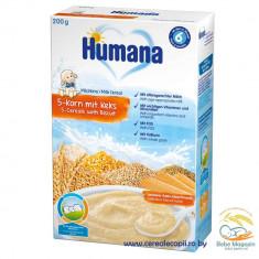 Cereale bebelusi Humana 5 cereale si biscuiti, cu lapte, de la 6 luni - Cereale copii