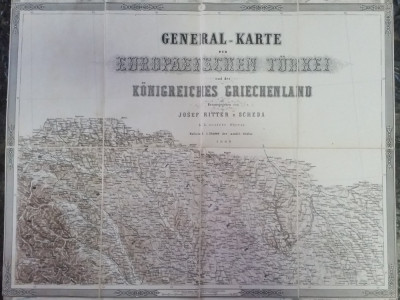 Harta veche Bucovina 1869 foto