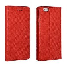 Husa Samsung Galaxy J7 2017 Flip Case Inchidere Magnetica Rosie - Husa Telefon Samsung, Rosu, Piele Ecologica, Cu clapeta, Toc