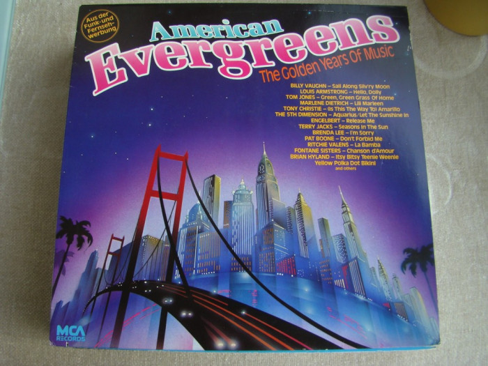 AMERICAN EVERGREENS - The Golden Years Of Music - Vinil LP Germany