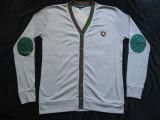 Jacheta L / XL gri coate verzi barbati cardigan pulover 6 nasturi bumbac, L/XL