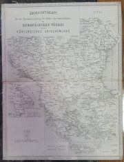 Harta veche Balcani foto