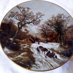 LIMOGES FRANTA 1803 1862 B.C. KOEKKOEK WINTER FARFURIE PORTELAN IARNA