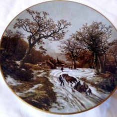 LIMOGES FRANTA 1803 1862 B.C. KOEKKOEK WINTER FARFURIE PORTELAN IARNA, Farfurii