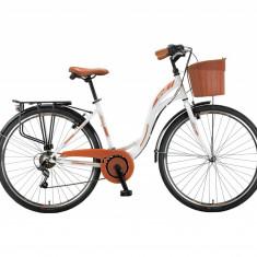 Bicicleta City UMIT Alanya, culoare alb, roata 28