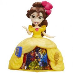 Mini Figurina Disney Princess Belle cu Rochita Rotativa - Figurina Povesti Hasbro