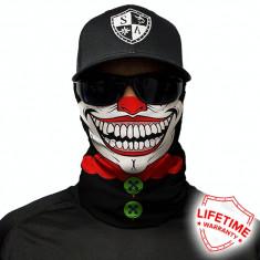Bandana/Face Shield/Cagula/Esarfa - Clown, made in USA, Marime: Masura unica, Culoare: Din imagine