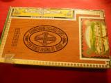 Cutie Trabucuri Dannermann ,lemn ,dim.= 23x13,5x3,5 cm ,pentru 25 trabucuri