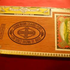 Cutie Trabucuri Dannermann, lemn, dim.= 23x13, 5x3, 5 cm, pentru 25 trabucuri