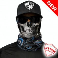 Bandana/Face Shield/Cagula/Esarfa - Tapestry Skull, made in USA, Marime: Masura unica, Culoare: Din imagine