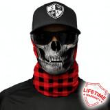 Bandana/Face Shield/Cagula/Esarfa - Lumberjack Red, made in USA, Din imagine