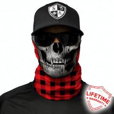 Bandana/Face Shield/Cagula/Esarfa - Lumberjack Red, made in USA, Marime: Masura unica, Culoare: Din imagine