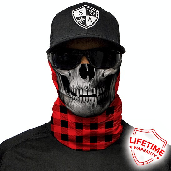 Bandana/Face Shield/Cagula/Esarfa - Lumberjack Red, made in USA