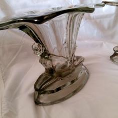 WALTHER SOHNE VASE VAZE PERECHE STICLA ART DECO 1920 VAZA CADOU DECOR ORNAMENT - Vaza sticla
