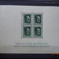 1937 Germania ( Reich ) Mi - bloc 7 Cu guma si sarniera*, Nestampilat