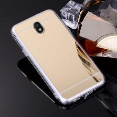 Husa Samsung Galaxy J5 2017 TPU Mirror Gold - Husa Telefon, Auriu, Gel TPU, Fara snur, Carcasa