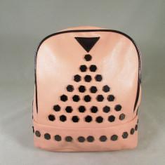 Rucsac/ghiozdan dama roz pal cu capse piele ecologica+CADOU - Rucsac dama
