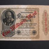 Germania  1000  Mark  1922  cu SUPRATIPAR  1.000.000.000  (un miliard)  53B