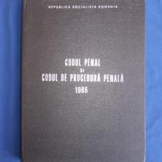 CODUL PENAL SI CODUL DE PROCEDURA PENALA ( UZ INTERN ) * 1986 - Carte Codul penal adnotat