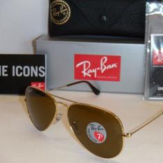 RAY BAN 3025 Aviator 001/57, 100% Originali !!! POLARIZATI - Ochelari de soare Ray Ban