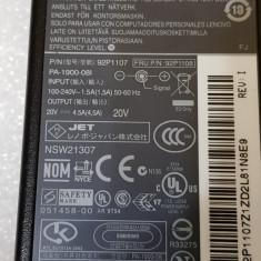 Incarcator original laptop Lenovo 90W 92P1107, 20V 4.5A - poze reale - Incarcator Laptop Lenovo, Incarcator standard