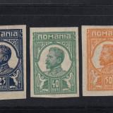 FERDINAND NEEMISE MOSCOVA 1917 - LOT 3 MARCI NEDANTELATE - MNH - Timbre Romania, Nestampilat