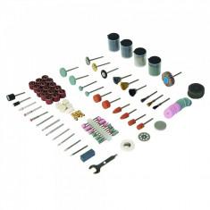 Set accesorii pentru biax 216 piese, taiat si slefuit, Silverline Rotary Tool Accessory Kit 216pce