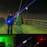 Set 3 x laser rosu verde si albastru - Laser pointer