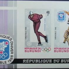 R. BURUNDI - OLIMPIADA GRENABLE, 1968, 1 S/S,  NEDANT., NEOB. -  RBU 61, Sport