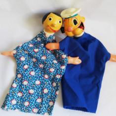 (T) Marionete teatru de papusi Popeye Marinarul si Olive, vintage, colectie - Jucarii plus