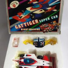 (T) Masina colectie Ceppi Ratti Gattiger Super Car Left Machine in cutie anii 70 - Jucarie de colectie