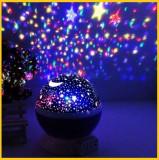 Lampa  Veghe Copii Proiector Tavan Glob Muzical + USB, Multicolor
