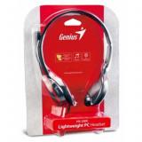 Casti audio Genius HS-200C , 3.5 mm Jack , Peste cap , Negru