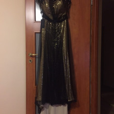 Rochie de ocazie -noua cu eticheta - Rochie de seara Made in Italia, Marime: 40, Culoare: Auriu