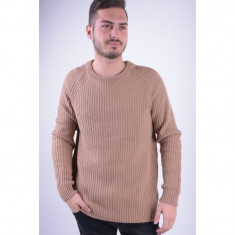 Pulover Selected Shncreek Crew Neck Camel - Pulover barbati Selected, Marime: L, Culoare: Maro