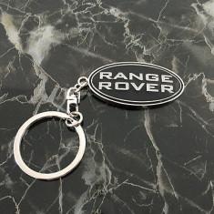 Breloc auto metal negru pentru RANGE ROVER + ambalaj cadou