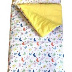 Sac de dormit Buzunar 190 cm Fluturasi cu galben Deseda - Lenjerie pat copii