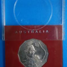 SV * Australia FIFTY CENTS / 50 CENTI 1970 < Capt. James Cook 1770 > UNC, Australia si Oceania, Nichel