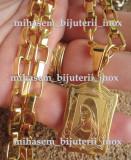Lant  medalion  inox placat = 50 ron